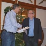Verabschiedung von Manfred Dobler der fast 30 Jahre lang das Amt des Kassieres ausführte